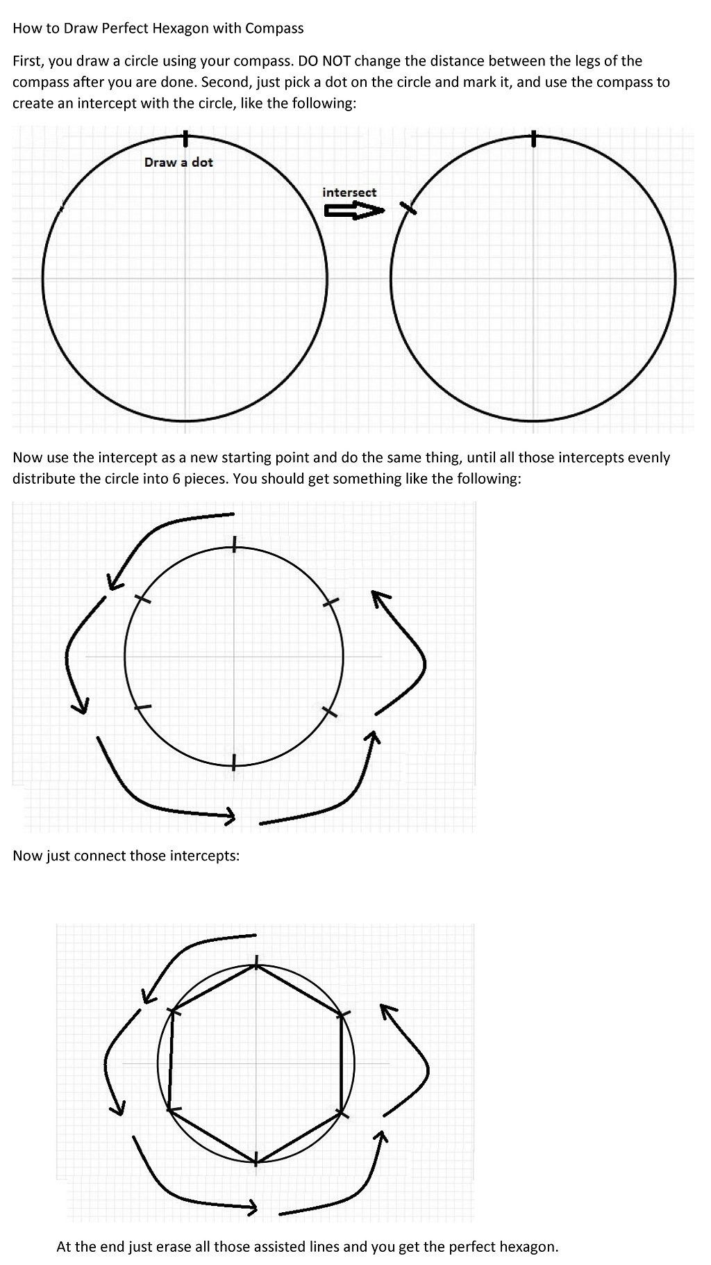 how to draw with a compass
