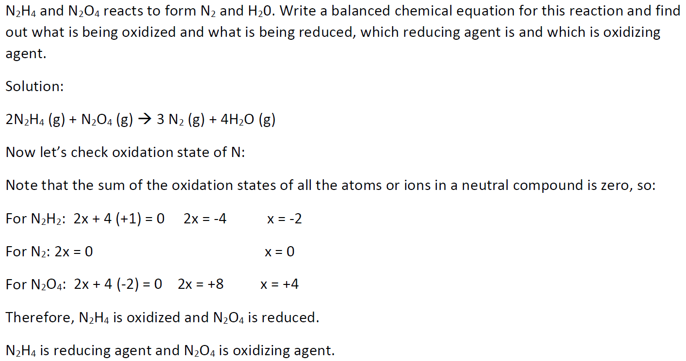 How To Find Out Reducing Oxidizing Agent In Reaction Example