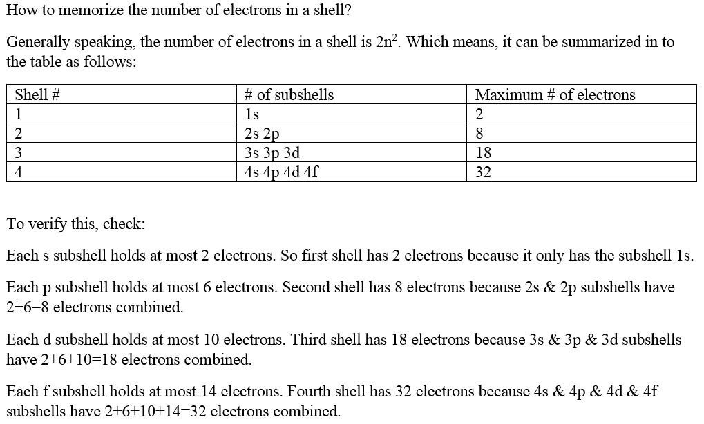 chemistry how to find number of electrons
